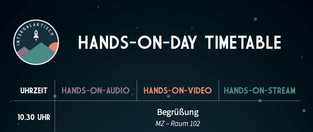 Screenshot Zeitplan